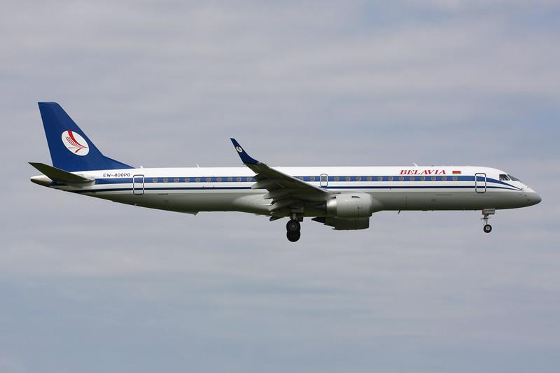"EW-400PO Embraer Emb-195-200LR ""Belavia Belarussian Airlines"" c/n 19000668 Amsterdam/EHAM/AMS 21-06-14"
