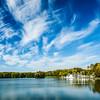 Kamsamolskaje Voziera artificial lake in Minsk, Belarus