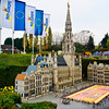 "Mini Europe - Model of the Grand-Place in Brussels showing ""Carpet of Flowers"" held every two years in August."