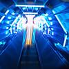 Escalator inside the Atomium