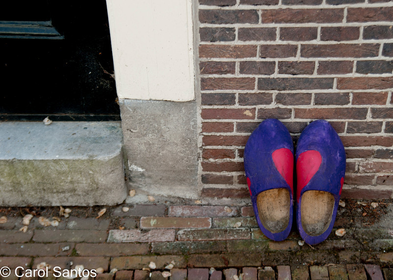 True Dutch, wooden shoes.