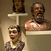 These busts were inside the pharmacy. They were quite bizarre. I think they had something to do with how medication was administered.