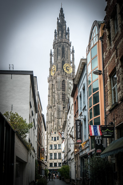 Belfry at the Cathedral of Our Lady in Antwerp