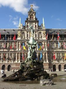 Brabo Fountain, Antwerp (Antwerpen) - Belgium.