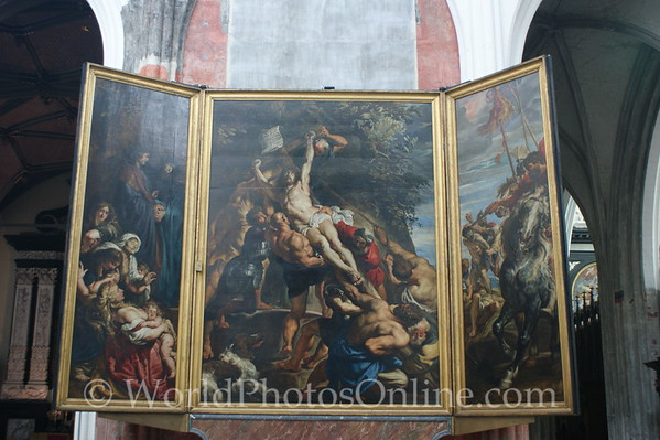 Antwerp - Cathedral - Rubens Painting