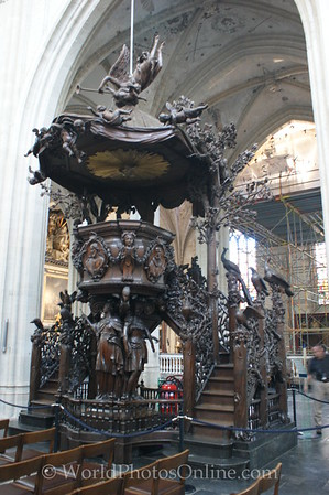 Antwerp - Cathedral - Pulpit