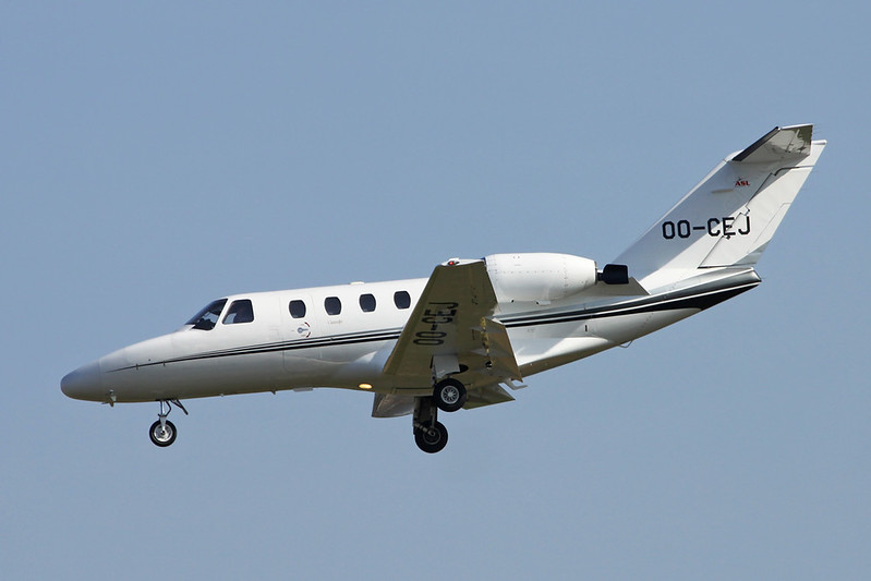 OO-CEJ Cessna 525 Citation Jet c/n 525-0172 Brussels/EBBR/BRU 26-03-17