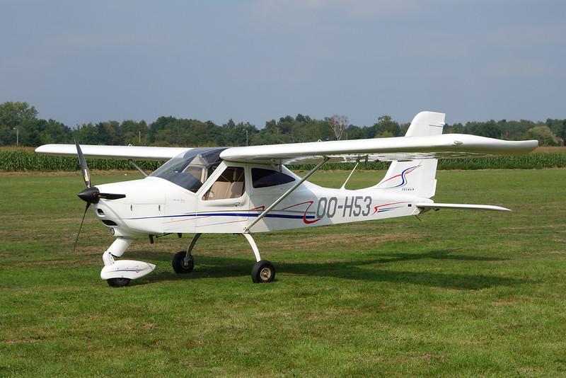 OO-H53 Tecnam P.92 Echo c/n 1527 Hasselt/EBZH 27-08-17