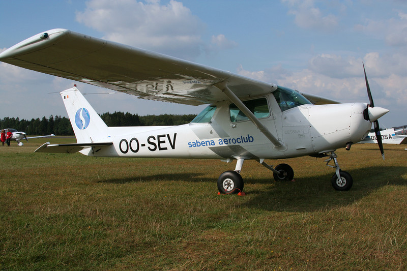 OO-SEV Cessna 152 c/n 152-81644 Spa-La Sauveniere/EBSP 05-08-06