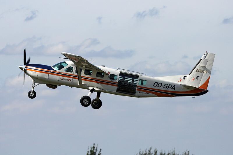 OO-SPA Cessna 208B Caravan c/n 208B-0587 Spa/EBSP 03-09-16