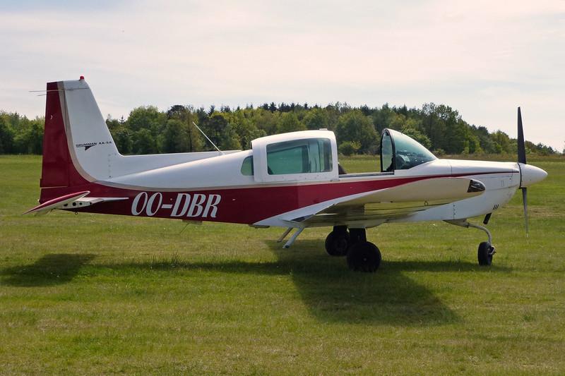 OO-DBR American Aviation AA-5A Cheetah c/n 0634 Verviers-Theux/EBTX 18-05-12