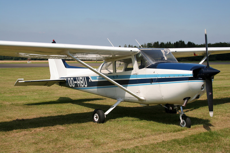 OO-HBU Reims-Cessna F.172N c/n 1916 Spa-La Sauveniere/EBSP 04-08-07