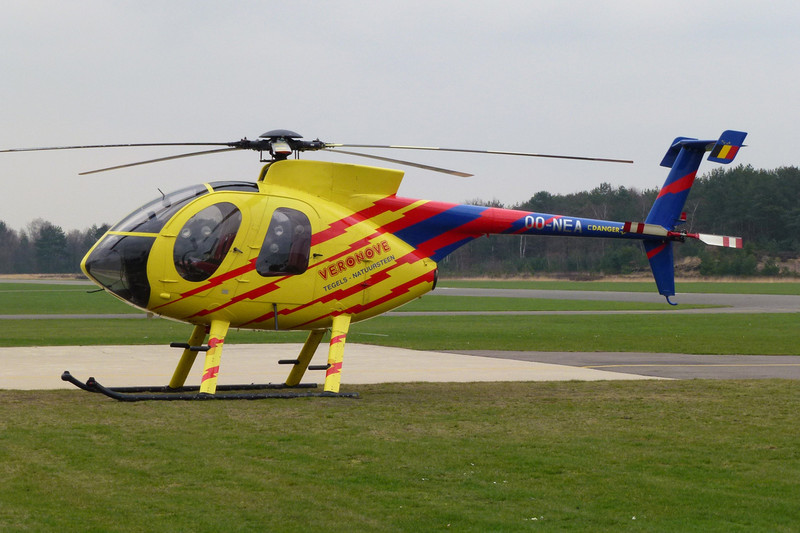 OO-NEA McD-D Helicopters 369E c/n 0419E Genk-Zwartberg/EBZW 12-03-12