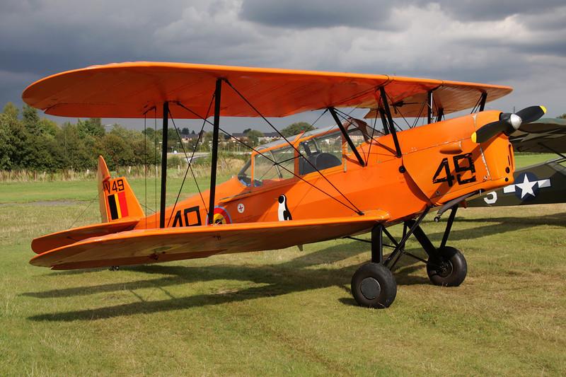 "OO-SVA (V-49/49) Stampe & Vertongen SV.4B ""Belgian Air Force"" c/n 1191 Verviers-Theux/Laboru/EBTX 04-09-09"