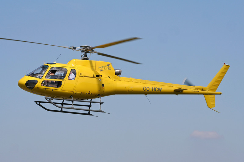 OO-HCW Eurocopter AS.350BA Ecureuil c/n 9080 Spa-La Sauveniere/EBSP 04-08-07