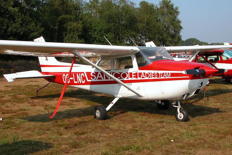OO-LNC Reims-Cessna F172 c/n F17201510 Leopoldsburg/EBLE 11-08-03