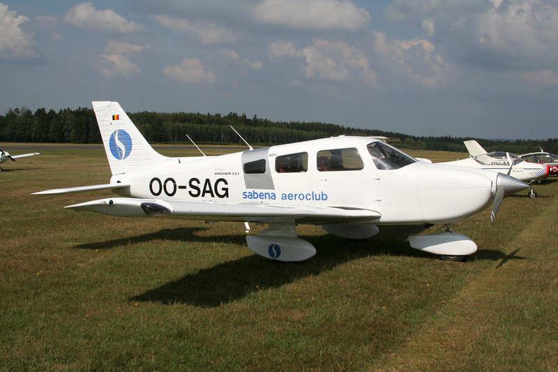 OO-SAG Piper PA-28-181 Archer III c/n 2843093 Spa-La Sauveniere/EBSP 05-08-06