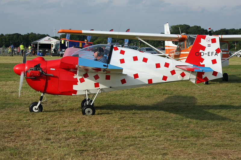 OO-EFA Tipsy T.66 Nipper II c/n 75 Schaffen-Diest/EBDT 13-08-16
