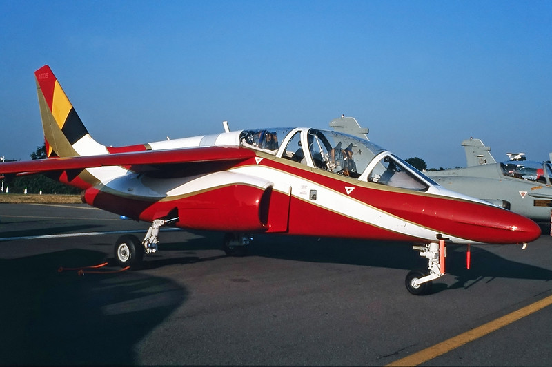 "AT-05 Dassault-Breguet-Dornier Alpha Jet 1B ""Belgian Air Force"" c/n 1018 Fairford/EGVA/FFD 25-07-99 (35mm slide)"