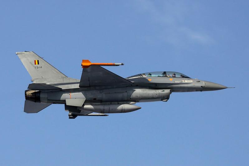 "FB-14 General Dynamics F-16BM Fighting Falcon c/n ""Belgian Air Force"" 6J-14 Liege/EBLG/LGG 03-02-12"