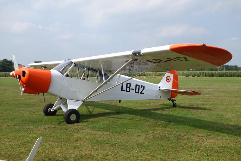 """LB-02 Piper L-21B 135 Super Cub """"Belgian Air Component"""" c/n 18-3607 Hasselt/EBZH 27-08-17"""