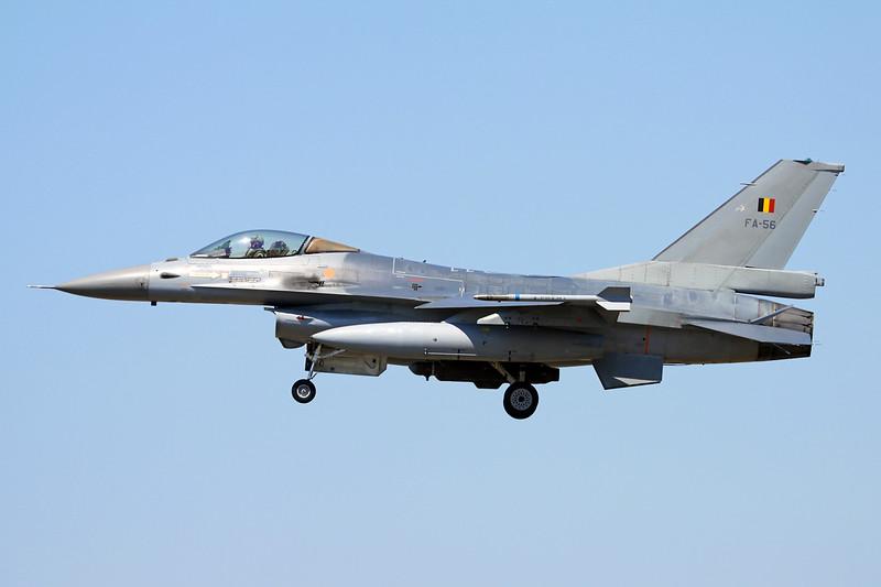"""FA-56 General Dynamics F-16AM Fighting Falcon """"Belgian Air Component"""" c/n 6H-56 Kleine-Brogel/EBBL 05-06-15"""