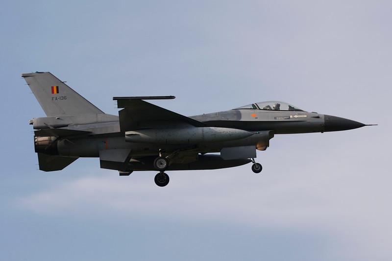 """FA-136 General Dynamics F-16AM Fighting Falcon """"Belgian Air Force"""" c/n 6H-136 Kleine-Brogel/EBBL 23-10-12"""