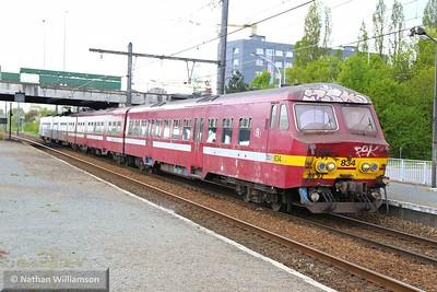 834 arrives into Antwerpen Noorderdokken  27/04/15