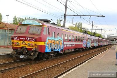816 departs Antwerpen Noorderdokken  27/04/15