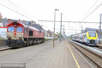 DE6302 & 08106 at Aalter, Belgium  02/05/15