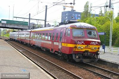 841 arrives into Antwerpen Noorderdokken  27/04/15