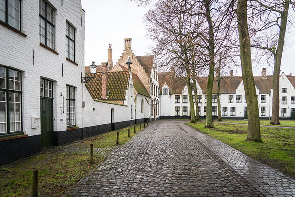 The Ten Wijngaerde Beguinage in Bruges, Flanders