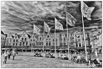 Town Square Flags, Bruges