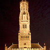 Belfort (Belfry Tower) at night, Brugge, Belgium