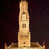 Belfort (Belfry Tower) at night, Brugge, Belgium