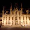 The Provincial Court (Provinciaal Hof) at night, Brugge, Belgium