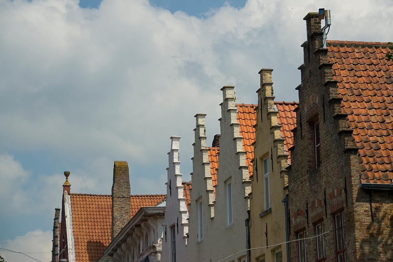 Old buildings in Burges, Belgium