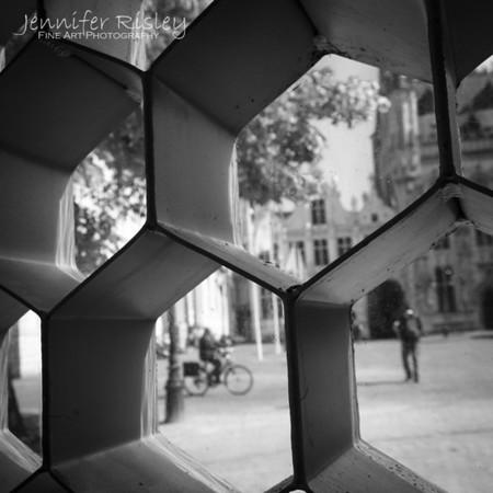 Bicycle through Burg Pavilion