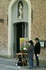 Brugge - Beguinage - Chapel with painters