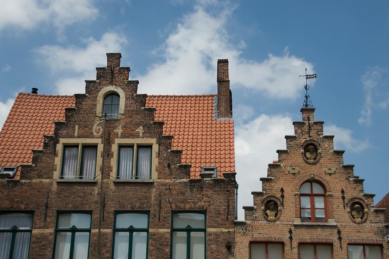 Building built in 1644 in Burges, Belgium