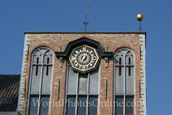 Brugge - Interesting Clock in Market Square