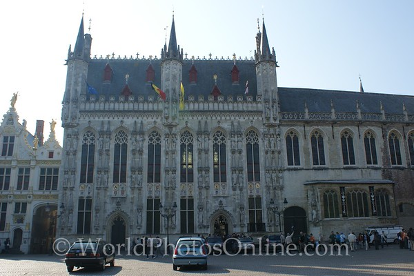 Brugge - Burg Square - Gothic city hall, Romanesque Church of the Holy Blood, & civic center
