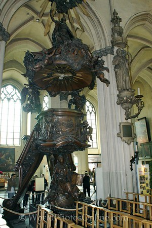 Brugge - Church of Our Lady - Pulpit