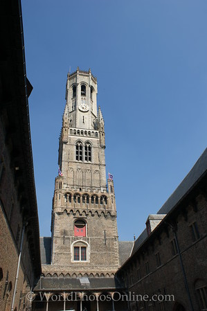 Brugge - Belfry view from inner courtyard