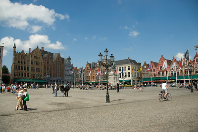 The Markt, Market Square, in Bruges, Belgium