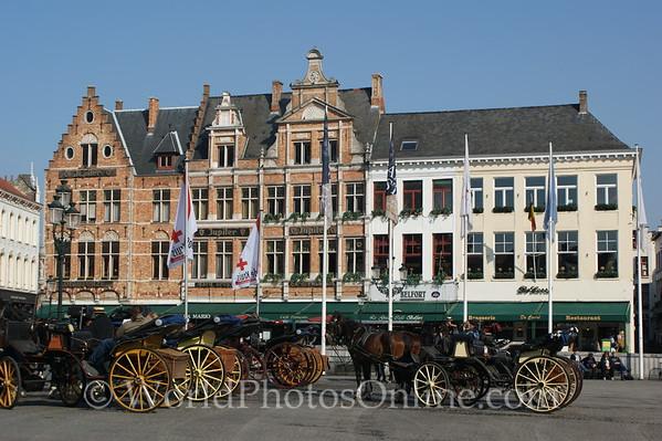 Brugge - Market Square - Buggies
