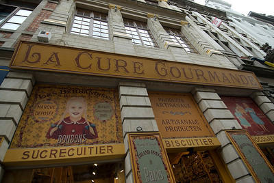 Chocolate and biscuit shop in Brussels, Belgium