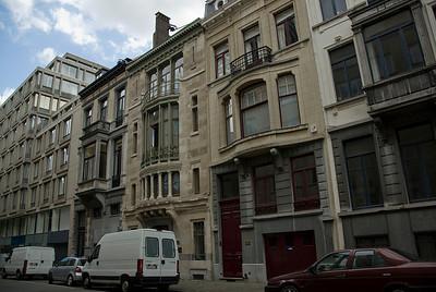 Facade of infrastructures in Brussels, Belgium