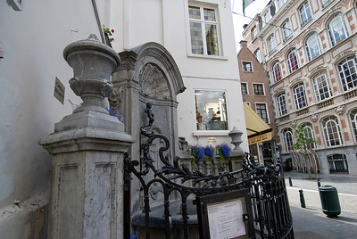 The Manneken Pis in Brussels, Belgium