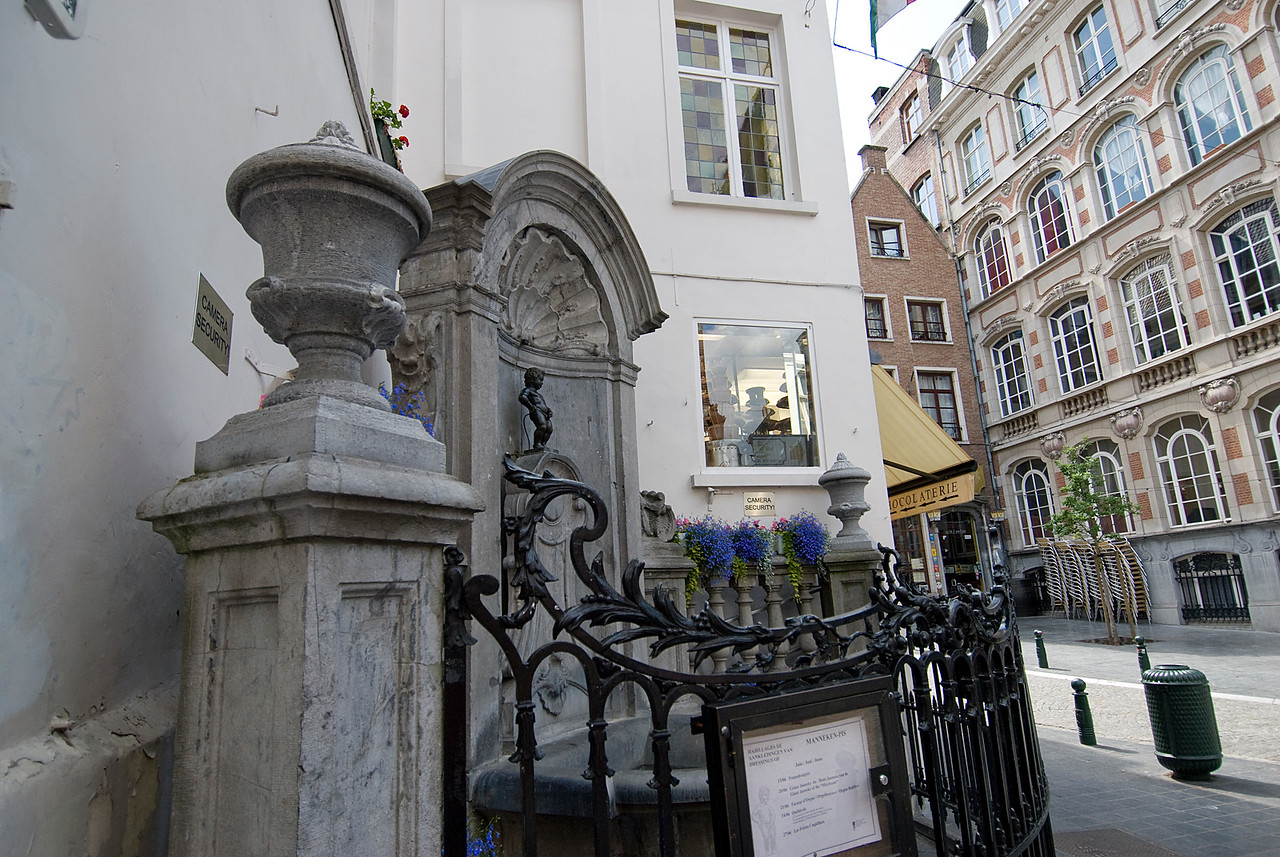 The Manneken Pis in Brussels, Belgium